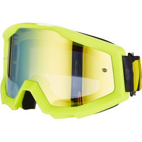 100% Strata Gafas, neon yellow-mirror